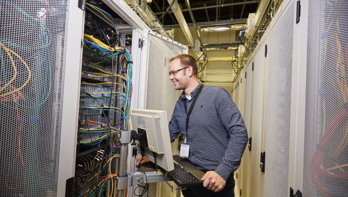 Durk in de server ruimte