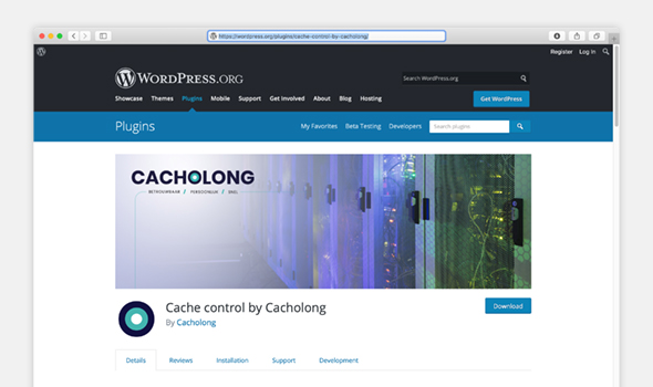 cacholong Wordpress optimaliseren plugin pagina